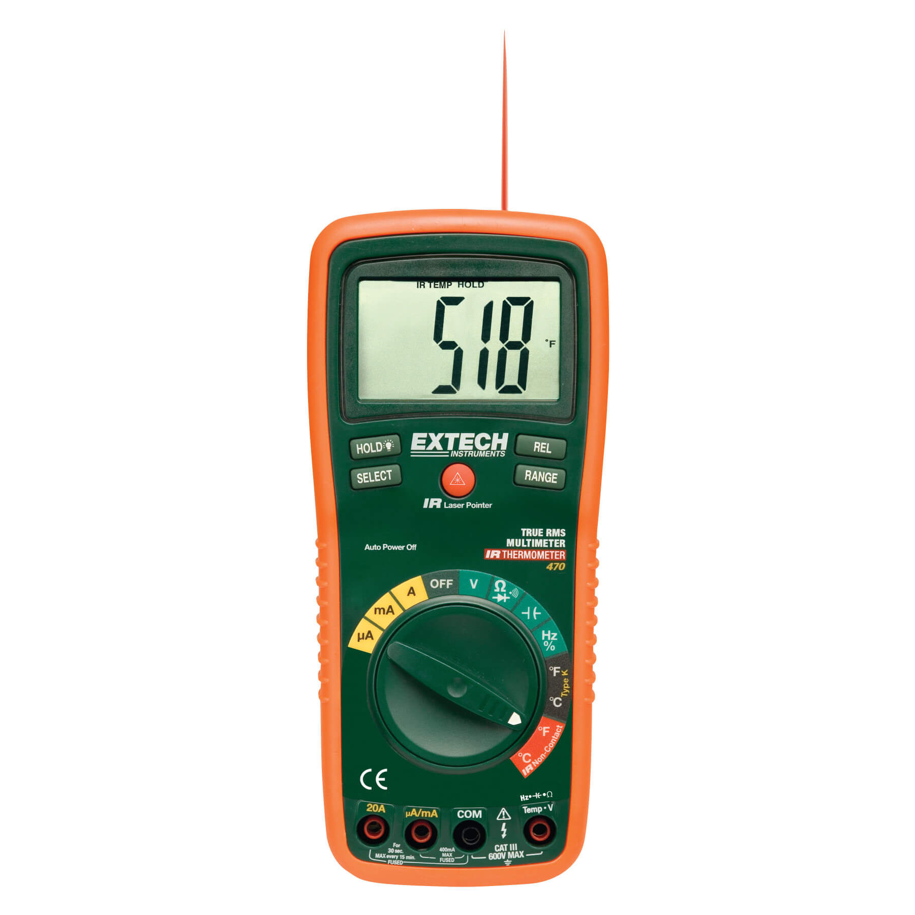 Extech Digital Multimeter : Extech ex true rms multimeter and ir thermometer