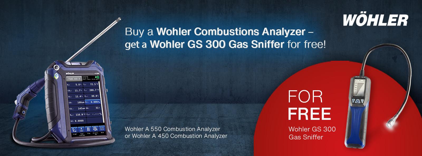 Wohler A 550 and A 450 Combustion Analyzers Promotion
