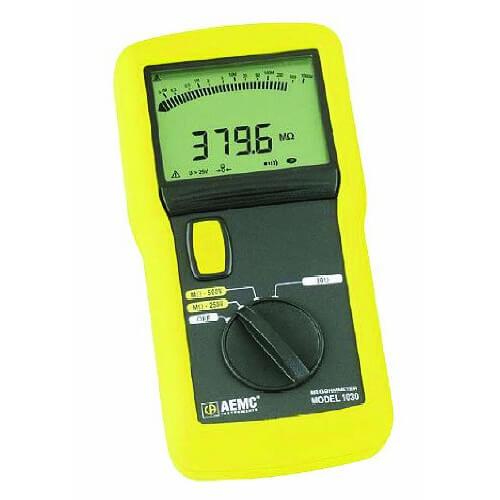 AEMC 1030 Digital and Analog 500V Megohmmeter Resistance Tester 2116.89