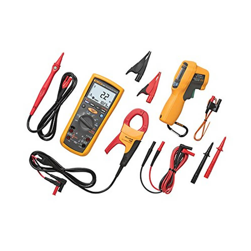 Fluke 1587-ET62MAX+KIT Electrical Test Kit with DMM IR Thermometer