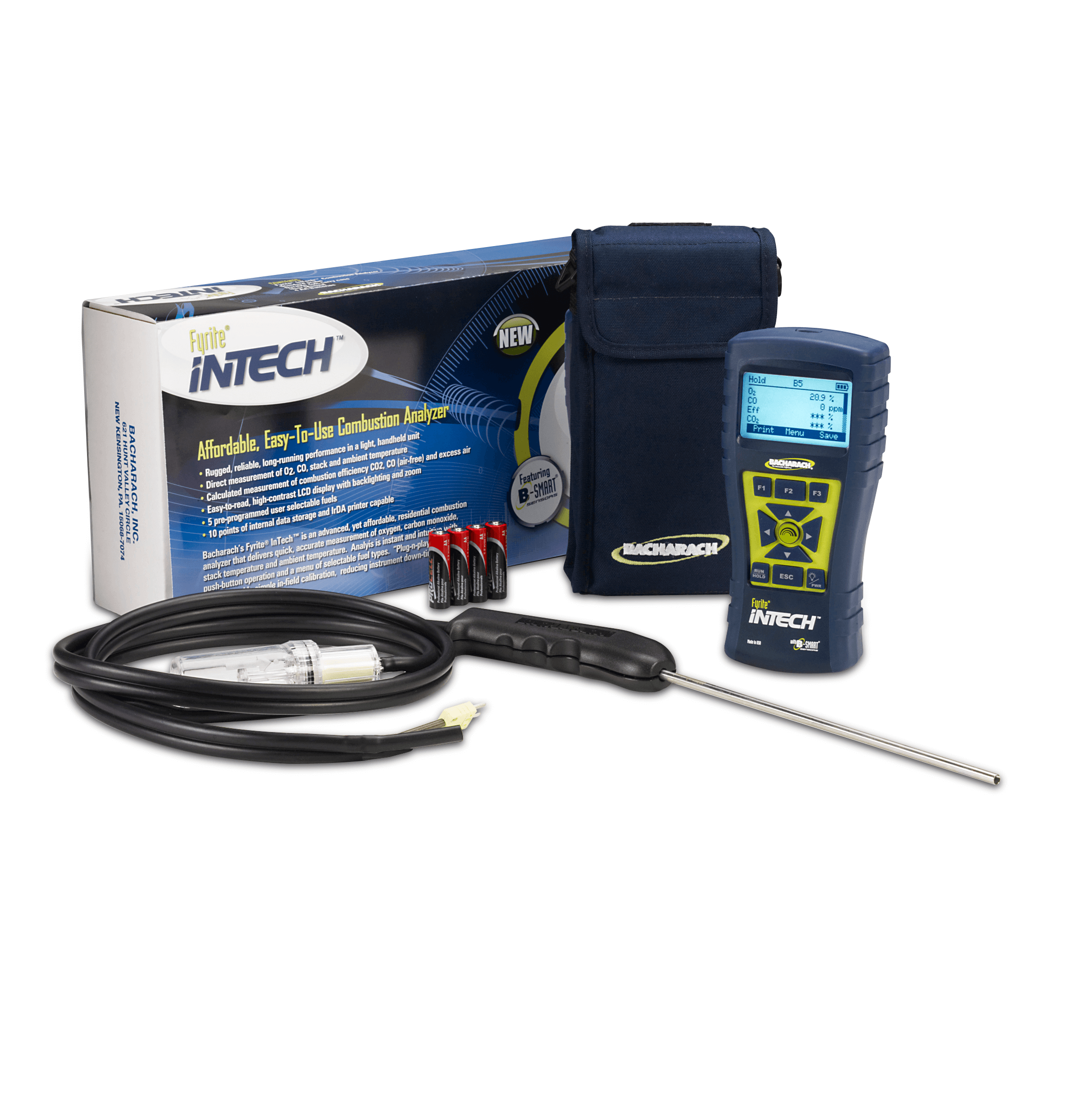 Bacharach 24-8511 Fyrite InTech Combustion Analyzer Basic Kit [Free 2nd Day Shipping]