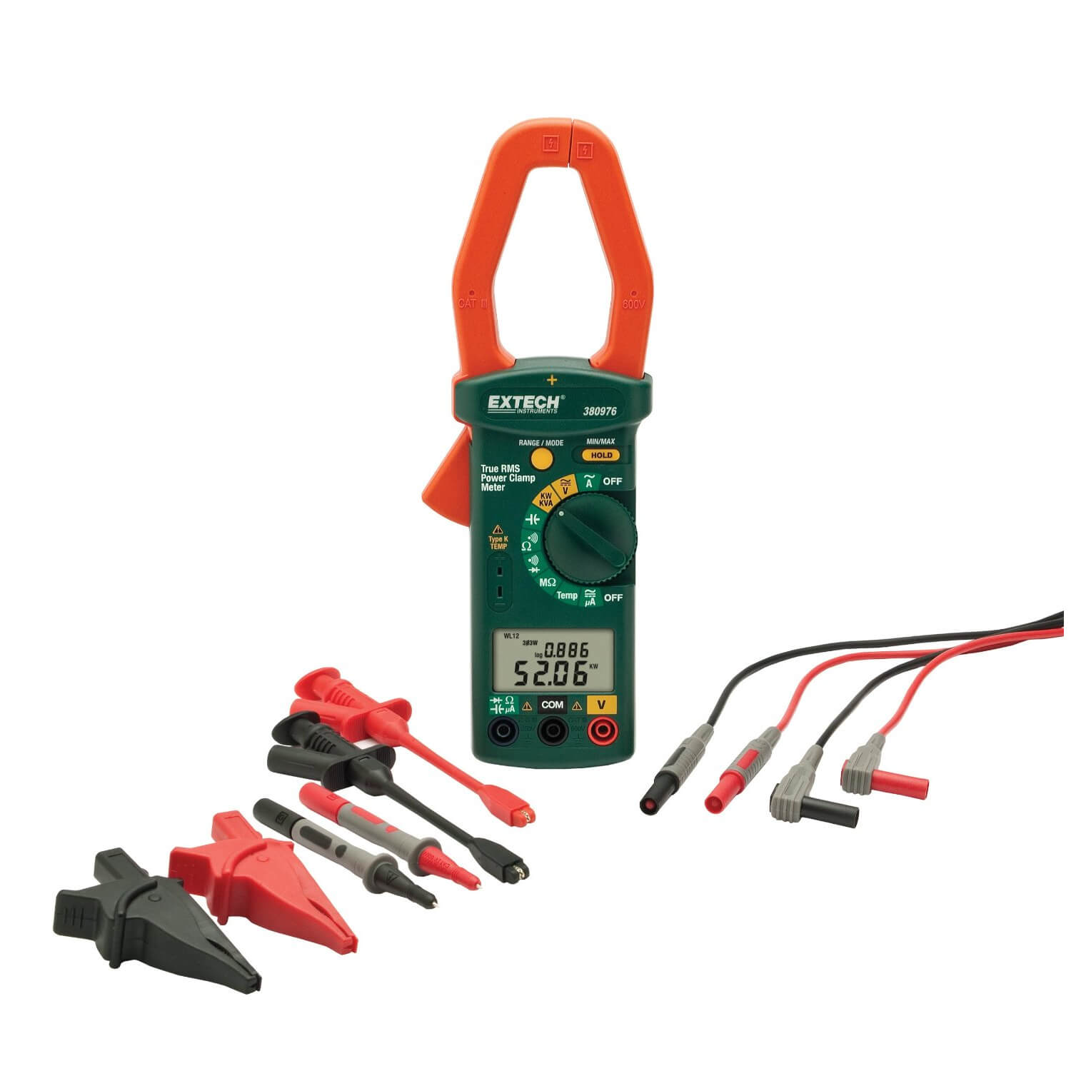 Extech 380976-K Clamp-on AC Power Meter Kit