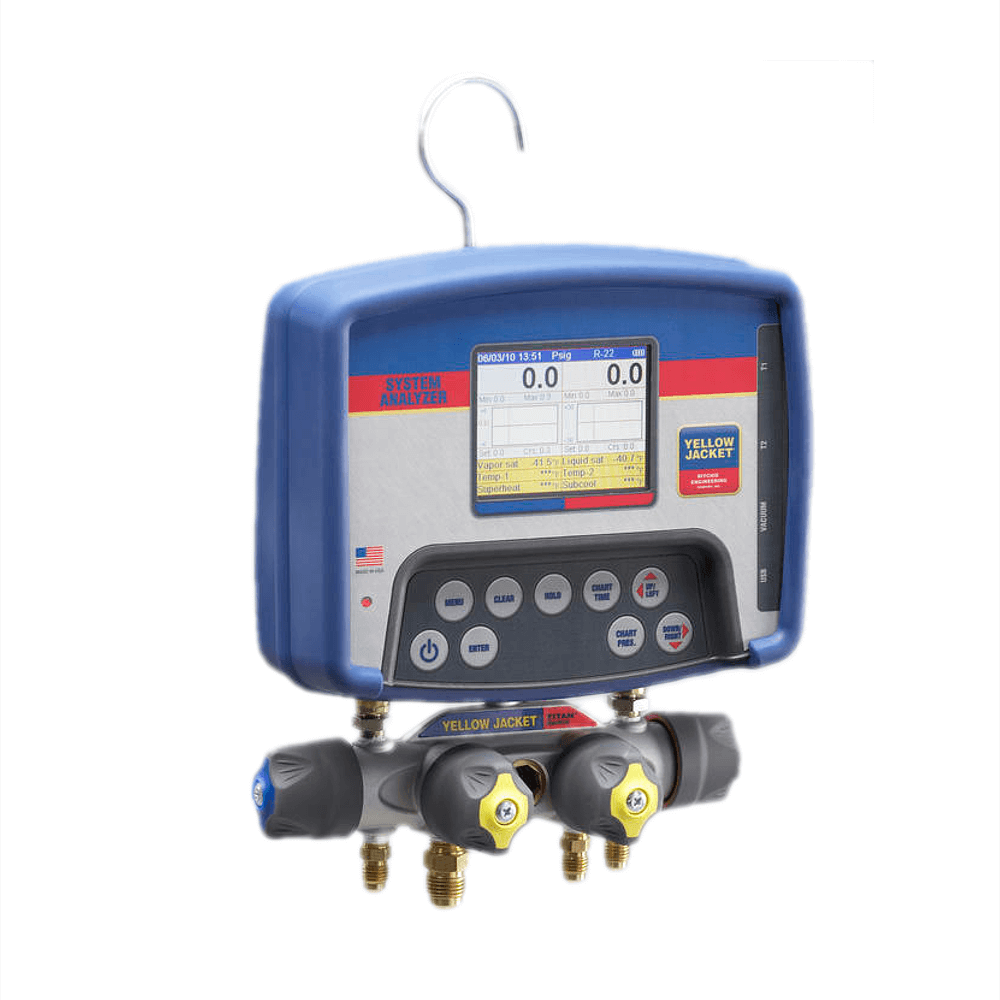 Yellow Jacket 40813 Advanced Refrigeration System Analyzer with Hoses