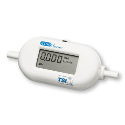 TSI 41433 LCD Gas Flow Meter Calibrated by 4 Gases