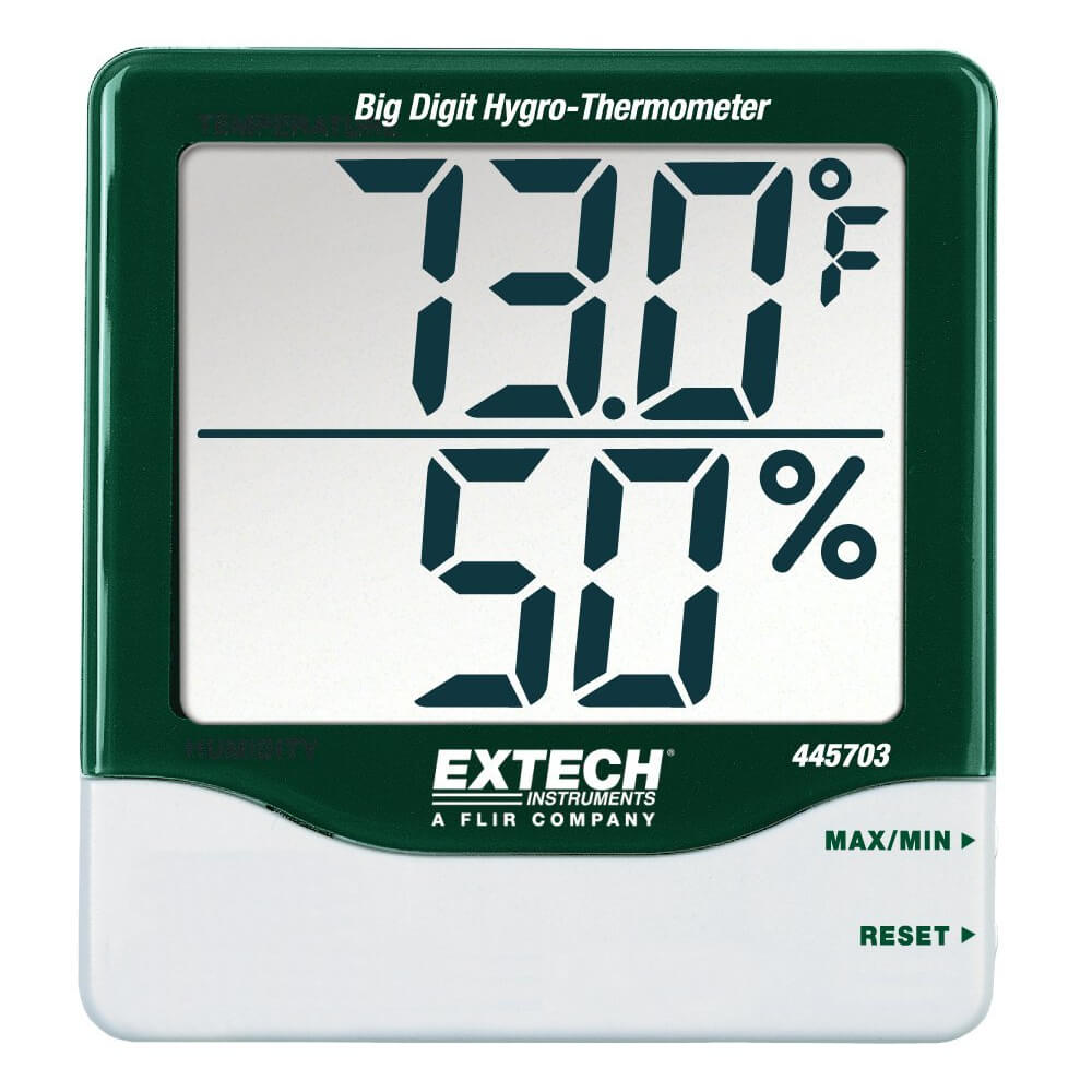 Extech 445703 Hygro-Thermometer with Big Digit Display