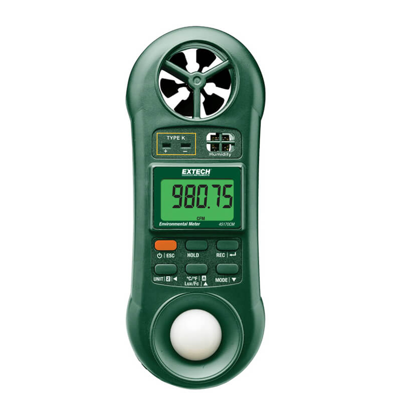 Extech 45170CM Environmental Meter 5-Function with CFM-CMM