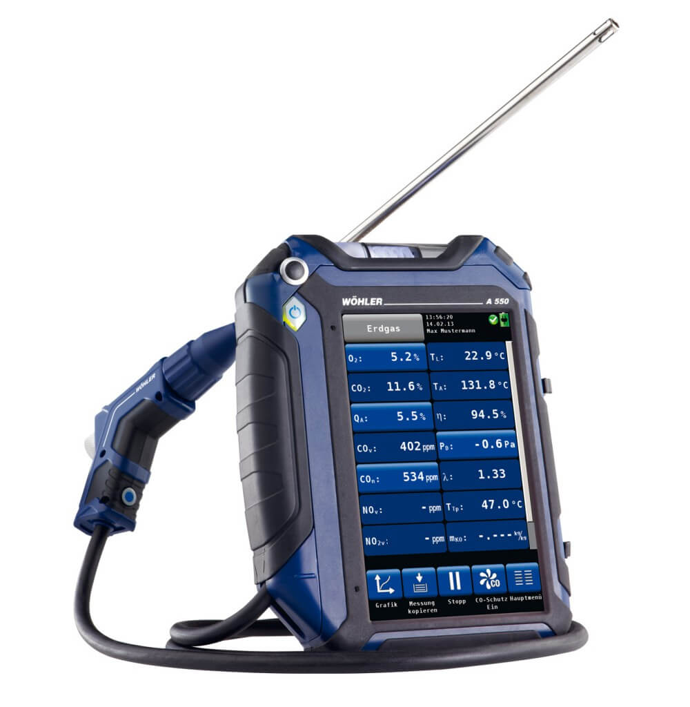 Wohler A 550 Advanced Touch Screen Combustion Analyzer 7765