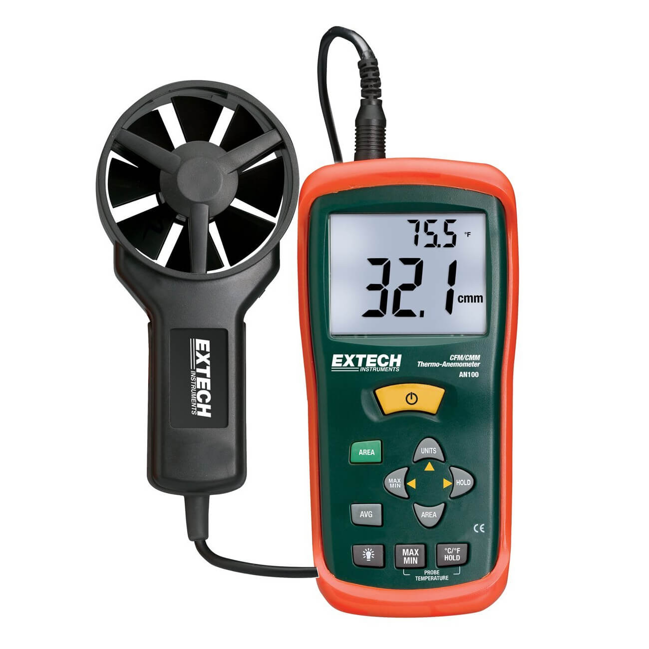 Extech AN100 Digital CFM-CMM Thermo-Anemometer