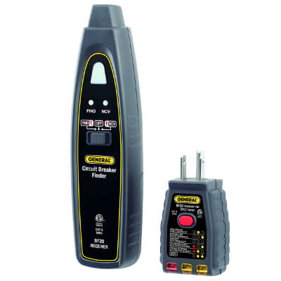 General Tools BF20 Breaker Tracer Voltage Detector and GFCI Tester