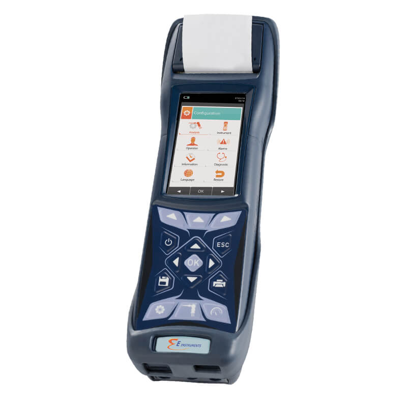E Instruments BTU4500-N Industrial & Commercial Combustion Analyzer with Integrated Printer