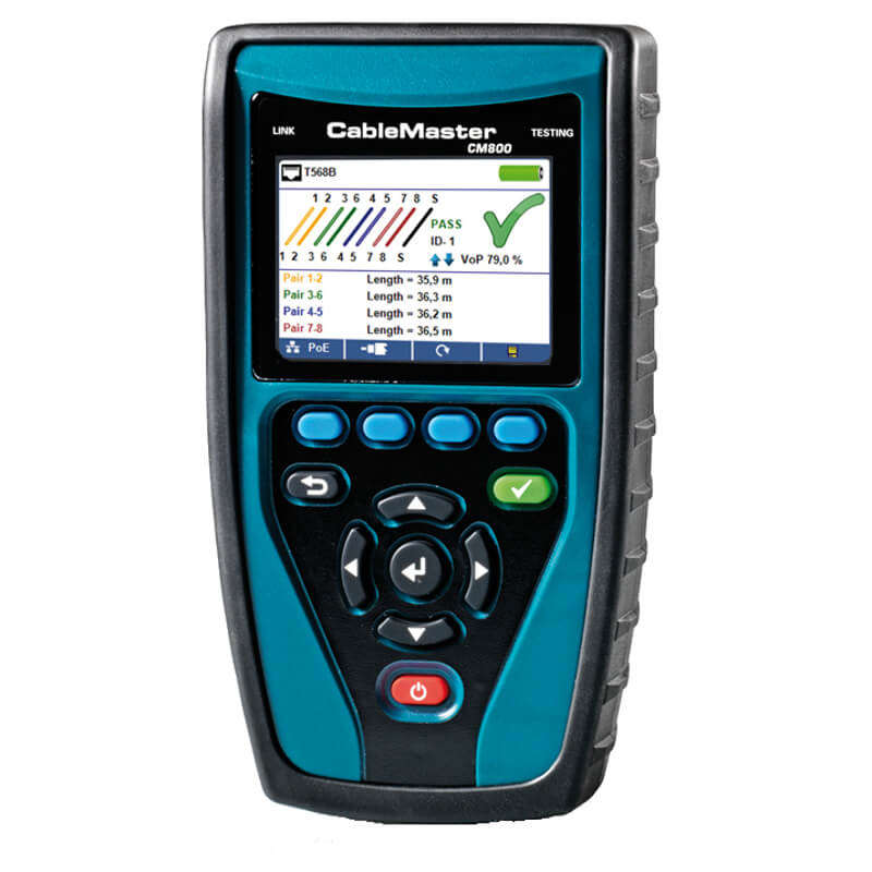 Softing CableMaster 800 Cable and PoE Tester for LAN Telephone and Coax Cables