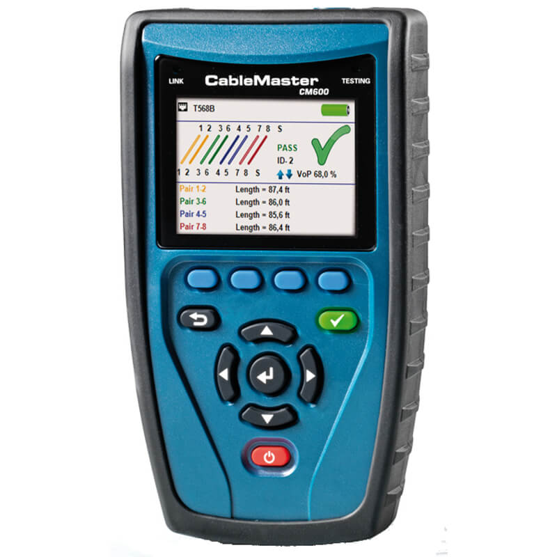 Softing CableMaster 600 Cable Tester for LAN Telephone and Coax Networks