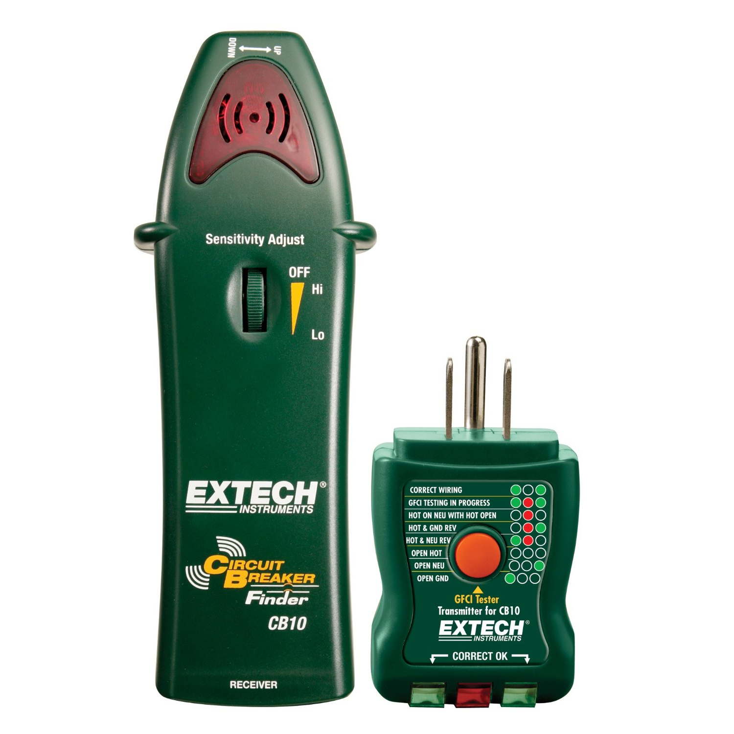 Extech CB10 GFCI Circuit Breaker Finder and Outlet Tester