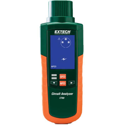 Extech CT80 AFCI GFCI Tester for AC Circuit Loads