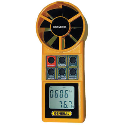 General Tools DCFM8906 Handheld Digital CFM Airflow Meter