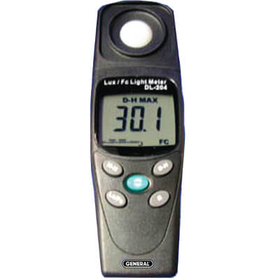 General Tools DLM204 Handheld Light Meter for Broad Range