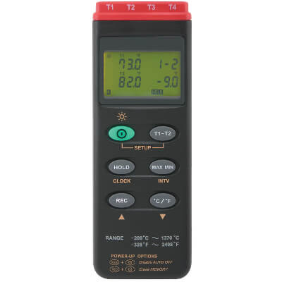 General Tools DT309DL Four Channel Thermometer with Datalogging
