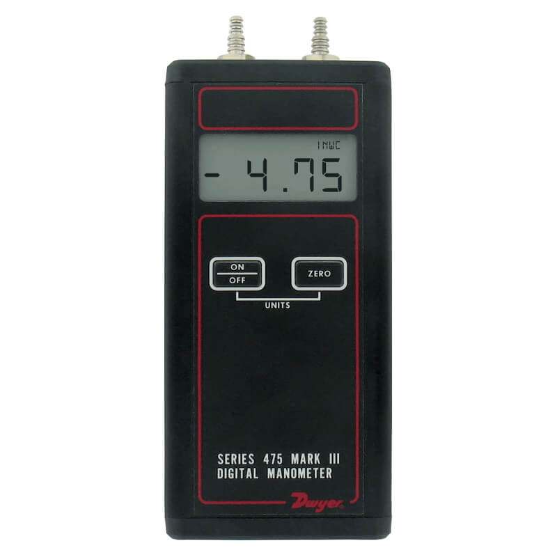 Dwyer 475-00-FM Manometer 4-inch WC Intrinsically Safe FM Approved