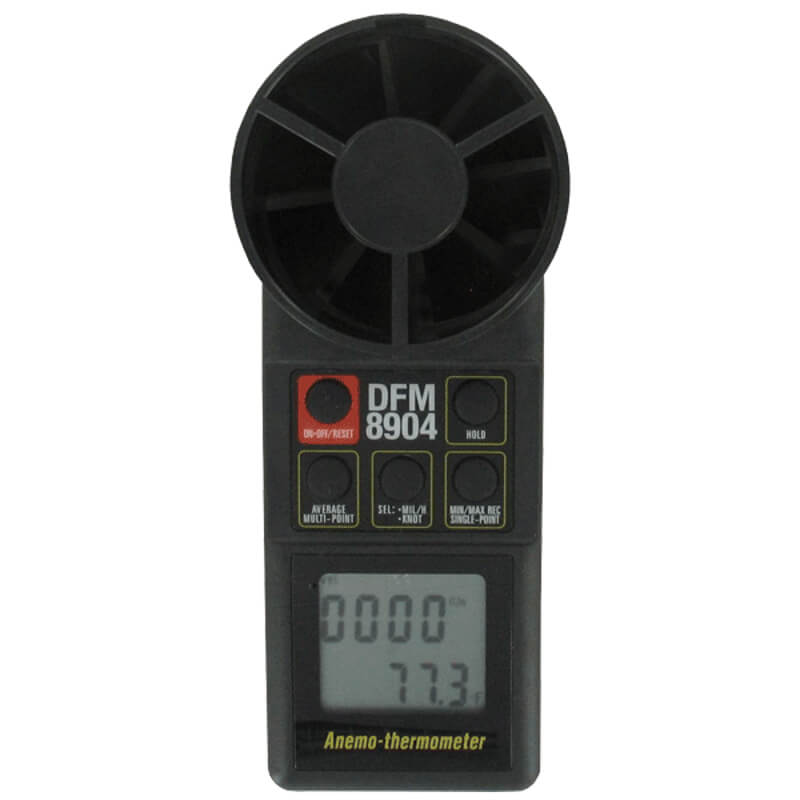 Dwyer 8904 Vane Thermo Anemometer with Dual Display