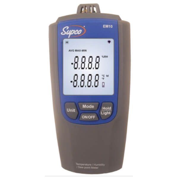 Supco EM10 Humidity and Temperature Meter with Digital Display