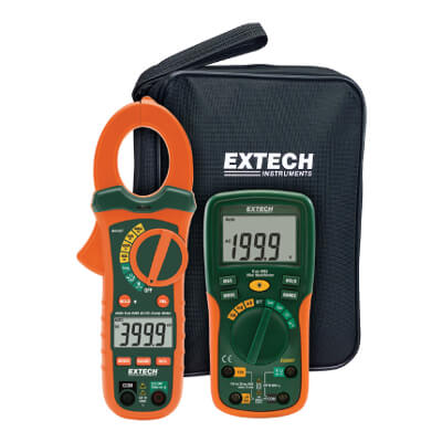 Extech ETK35 AC-DC Clamp Meter Electrical Test Kit