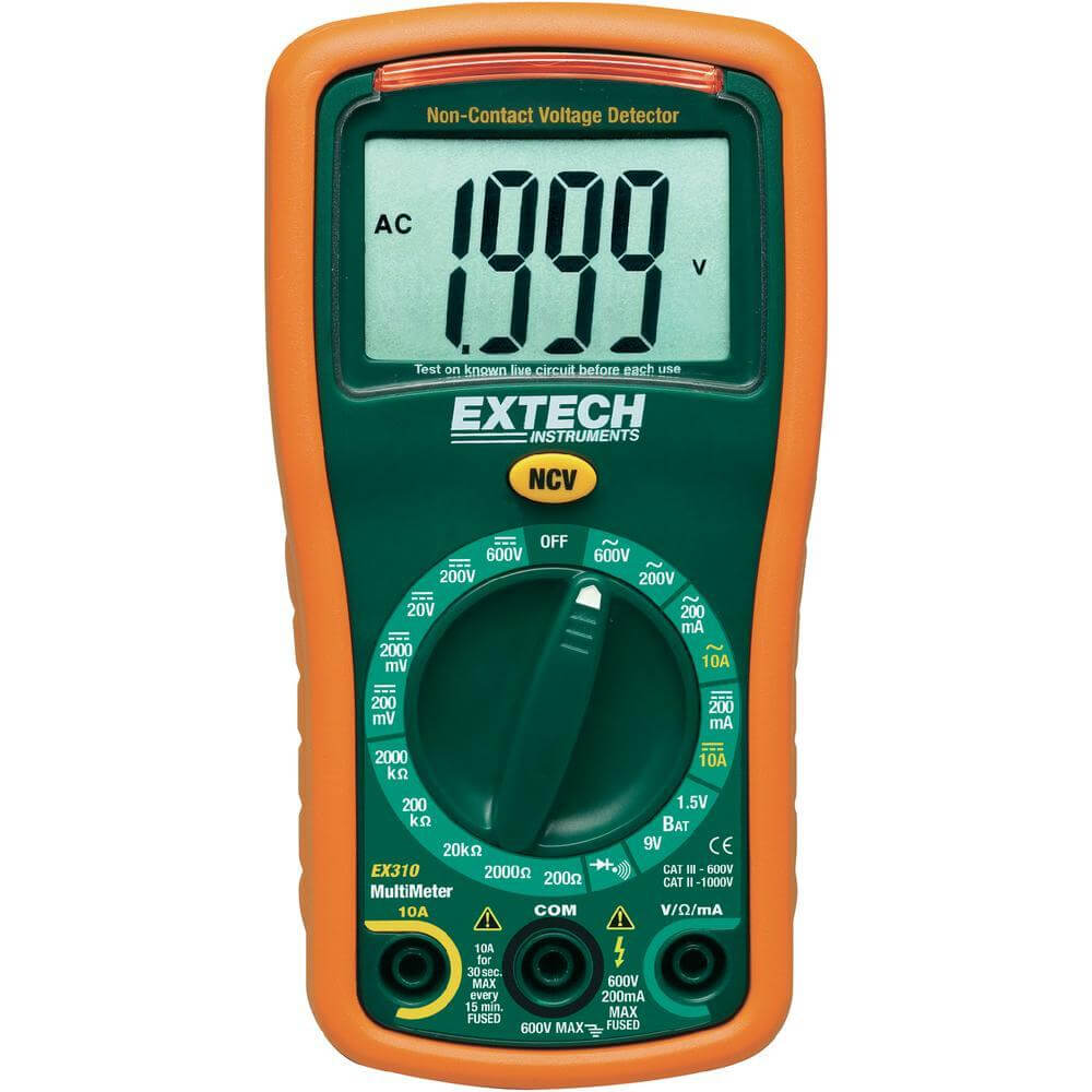 Extech EX310 Digital Multimeter with Large Display