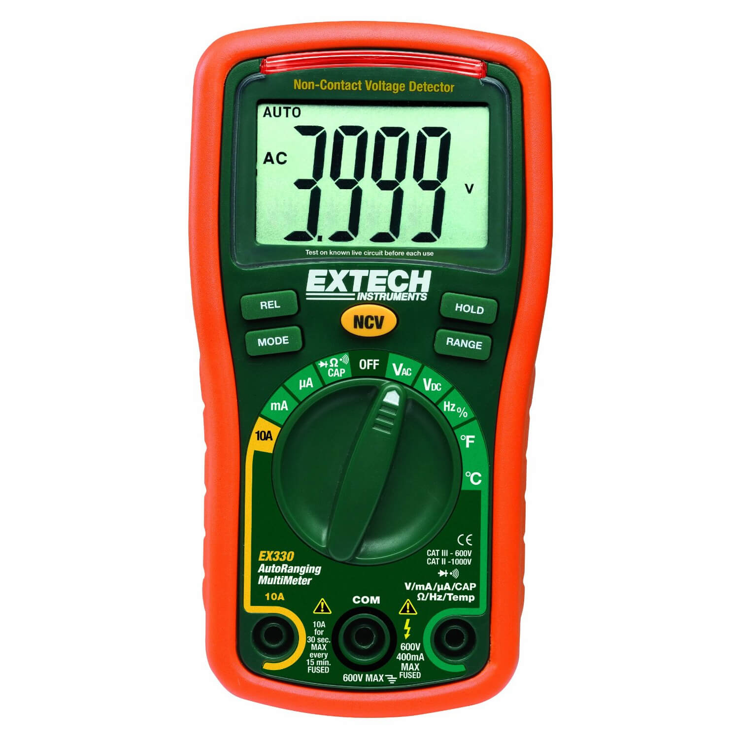 Extech EX330 Miniature Digital Multimeter with Thermocouple Temp