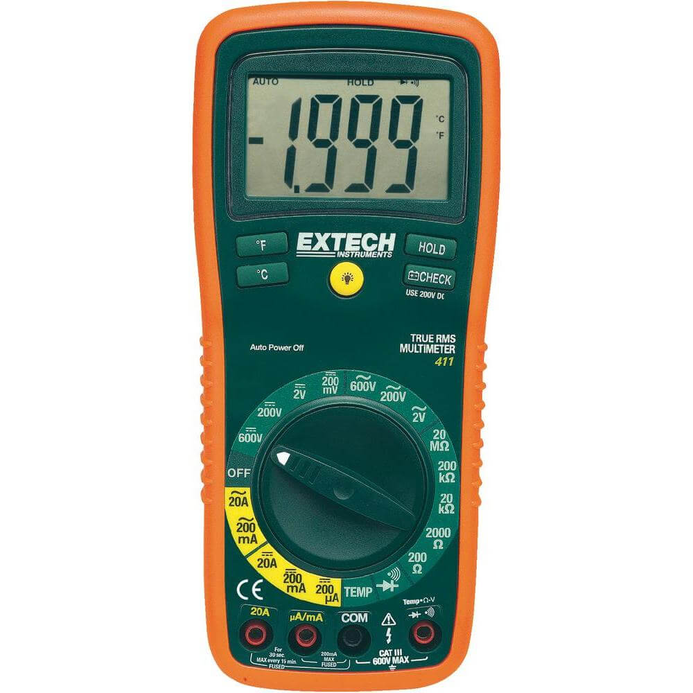 Extech EX411 Digital Manual Ranging Multimeter