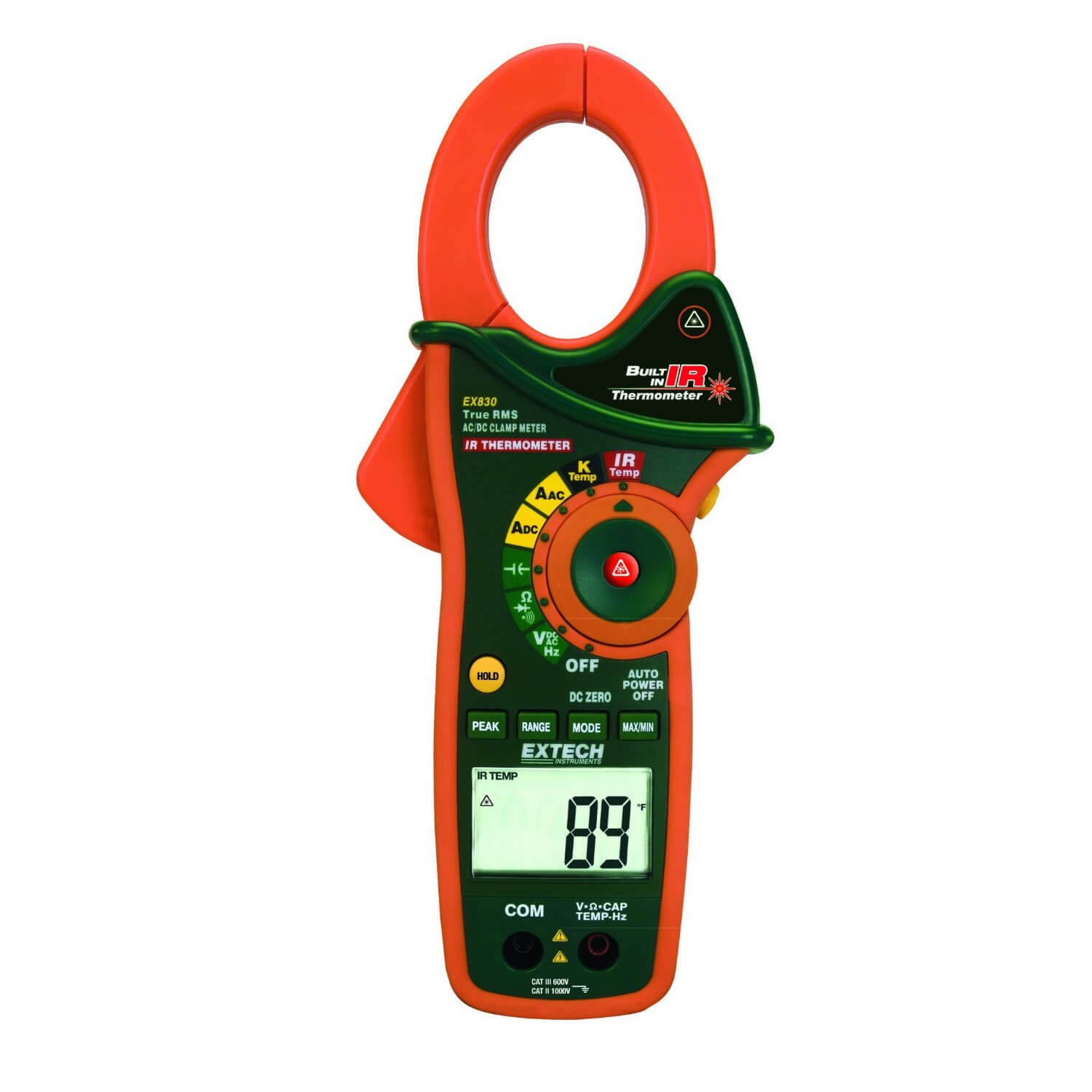 Extech EX830 1000A Digital TRMS Clamp Meter with IR Thermometer