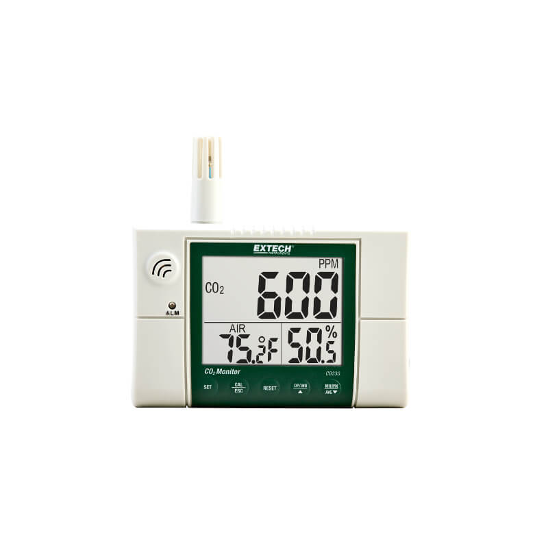 Extech CO230 Indoor Air Quality CO2 Temperature and Humidity Monitor