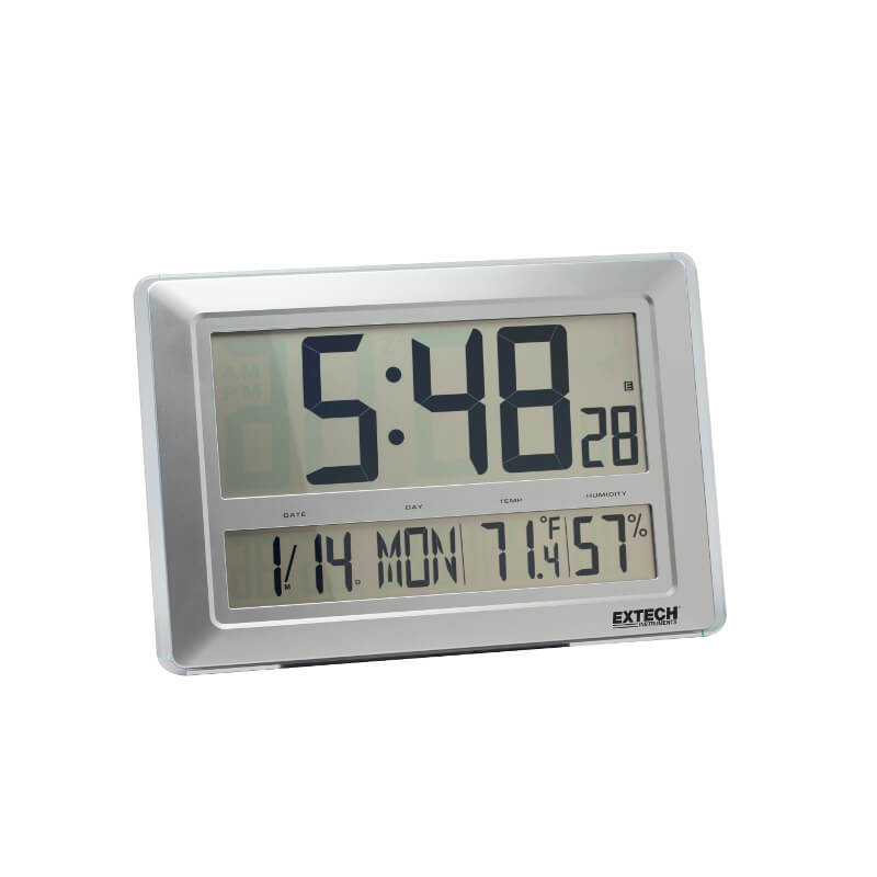 Extech CTH10A Radio Controlled Clock Calendar and Hygro-Thermometer with RH Functions
