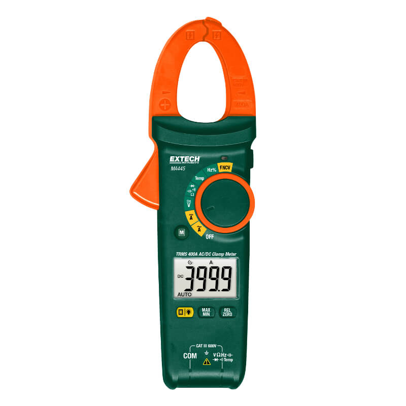 Extech MA445 True RMS 400A Clamp Meter AC/DC Current and NCV Tester