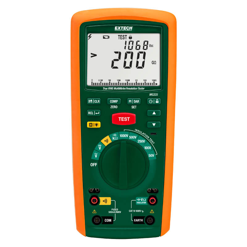 Extech MG325 CAT IV Megohmmeter and TRMS Multimeter Combo