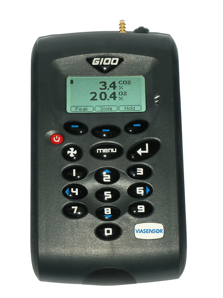 Viasensor G100-11N CO2 0-20% Handheld Incubator Analyzer with O2 (0-100%) and RH Probe