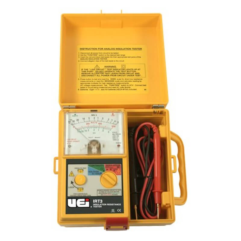 UEi IRT3 Portable Analog Insulation Resistance Meter