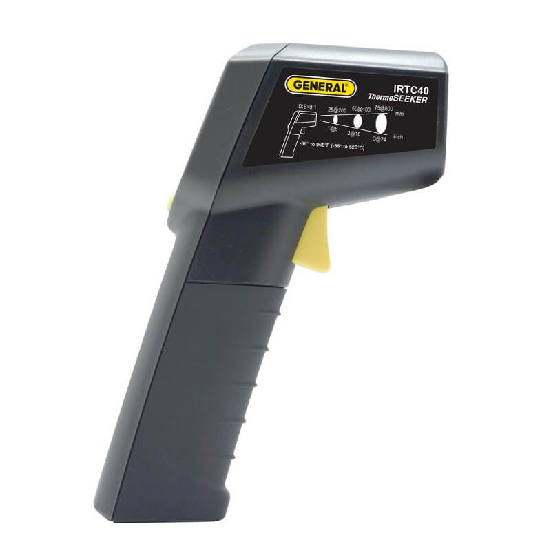 General Tools IRTC40 Scanning Infrared Thermometer with 3-Color LCD