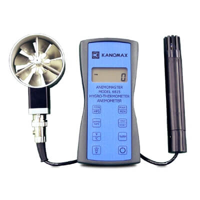 Kanomax 6815 Anemomaster Digital Anemometer with Temperature and RH