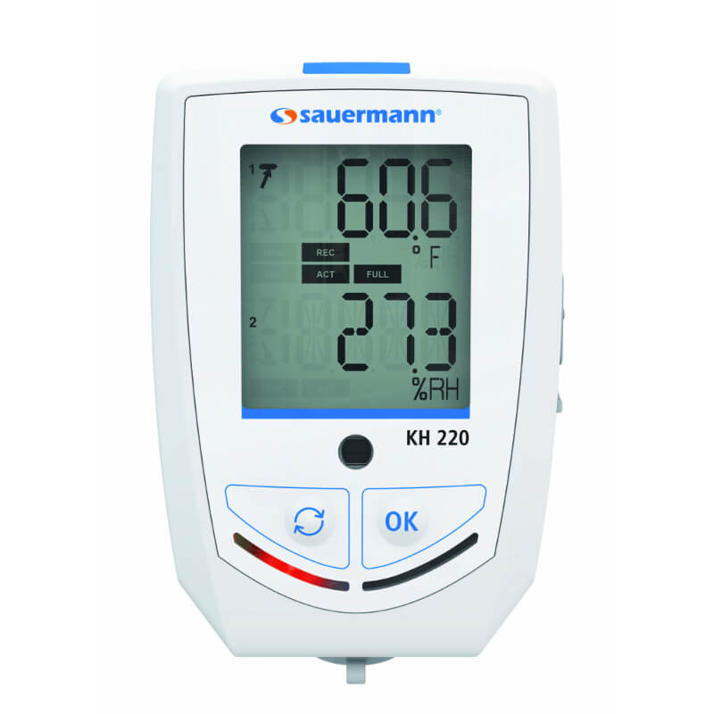 Sauermann KH220-O Multifunction Datalogger Temperature Humidity and 5 Other Parameters