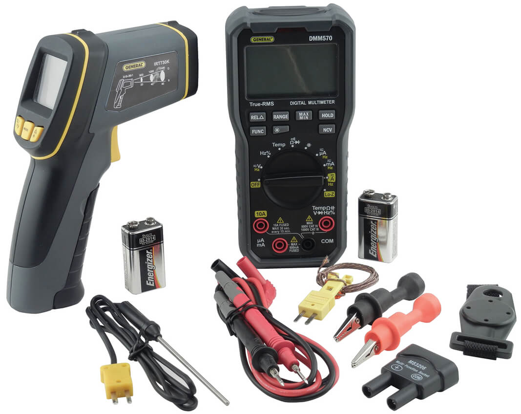 General Tools KHV57030 Digital Multimeter Kit with IR Thermometer