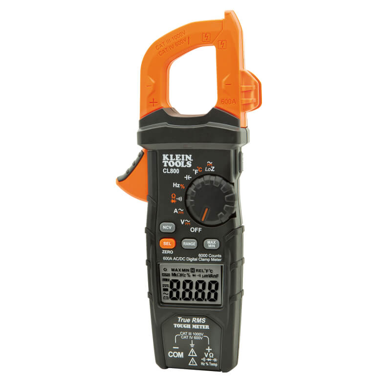 Clamp Meter Brands : Klein tools cl trms digital clamp meter a ac auto