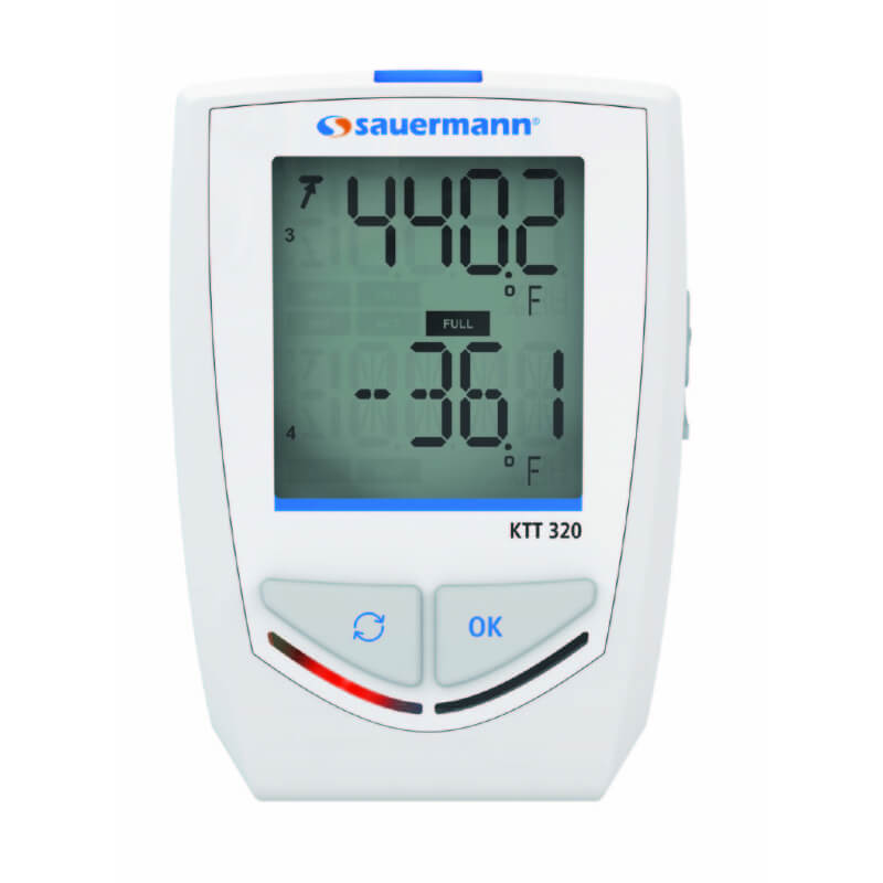 Sauermann KTT320 Thermocouple Temperature Datalogger with Bluetooth and Alarm