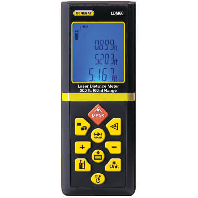 General Tools LDM60 Handheld Digital Laser Distance Meter