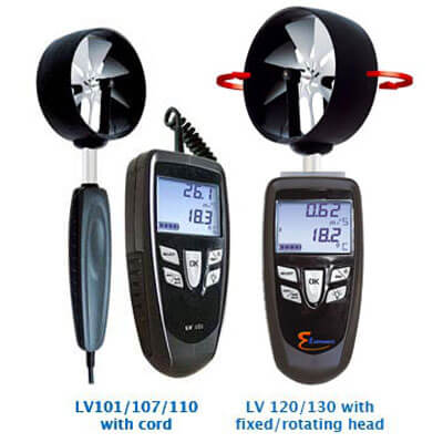 E Instruments LV 107S Digital Vane Thermo-Anemometer