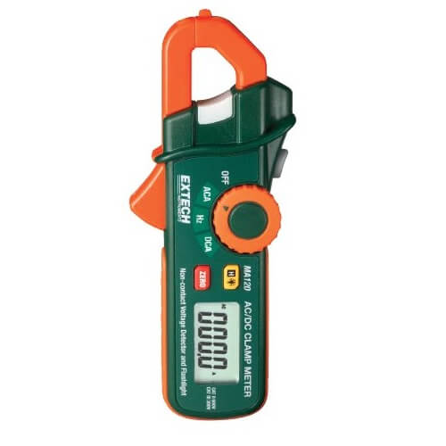 Extech MA120 Mini Clamp Multimeter and Voltage Detector 200A