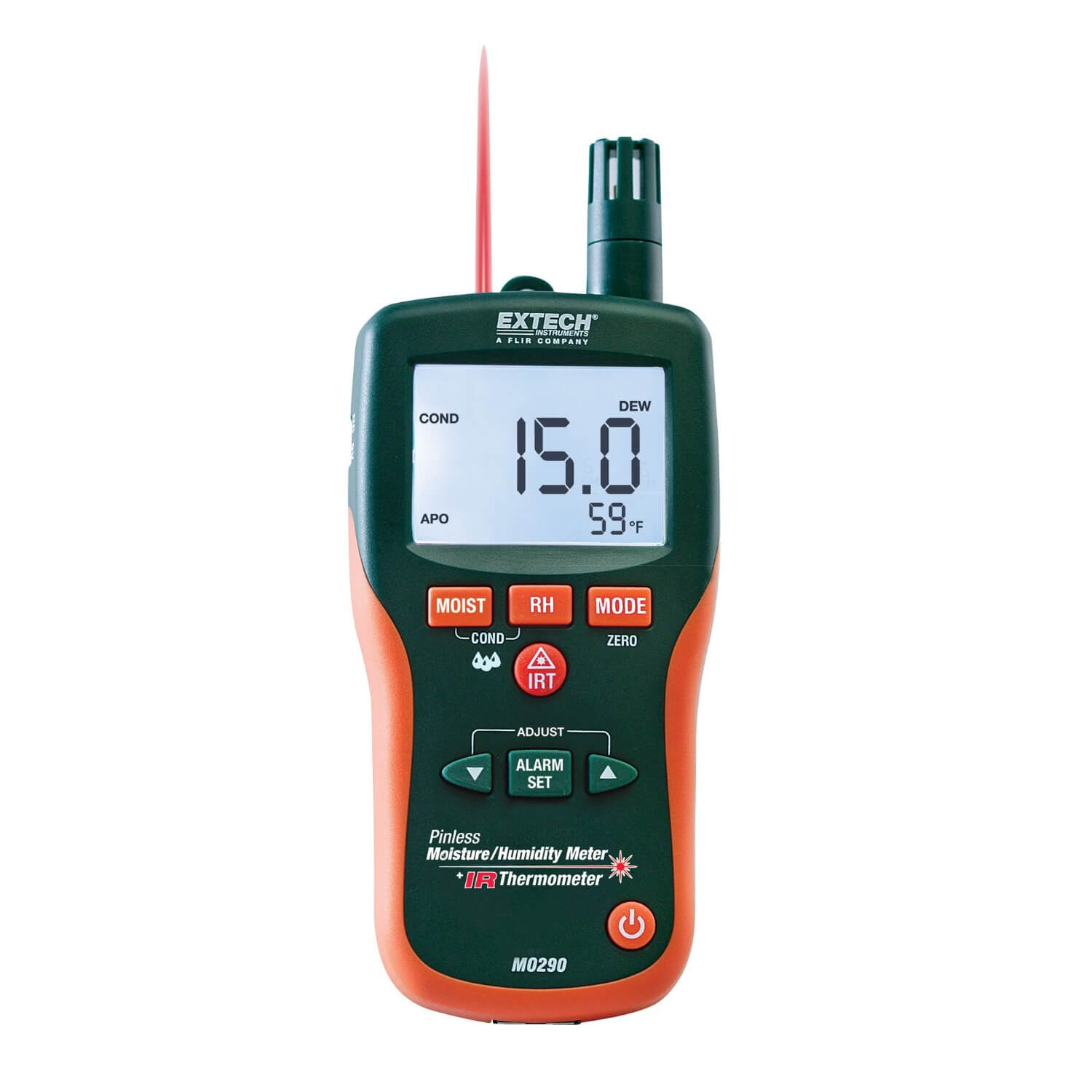 Extech MO290 Non Invasive Moisture Meter and Psychrometer