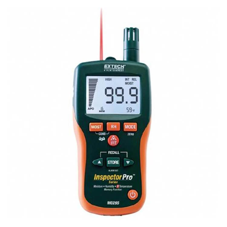 Extech MO295 Non Invasive Moisture Content Meter and Psychrometer