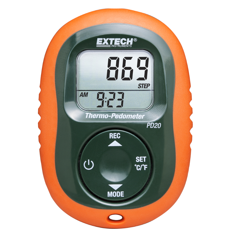 Extech PD20 Pocket-sized Thermo-Pedometer
