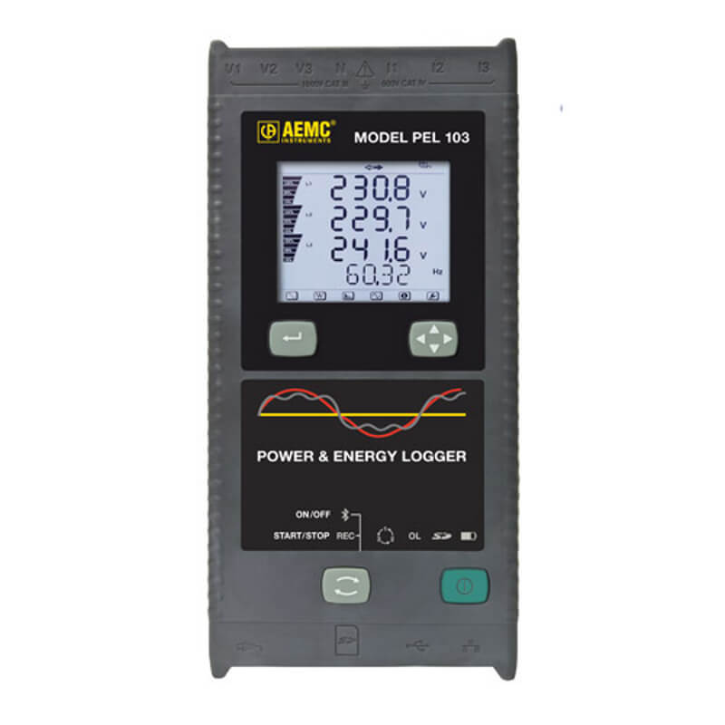 AEMC PEL 103 Advanced Power Energy Logger with Digital Display