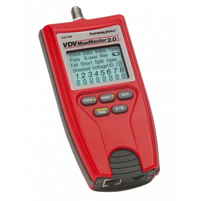 Platinum Tools T129 VDV Map Master 2.0 LAN Cable Tester with Length Measurement