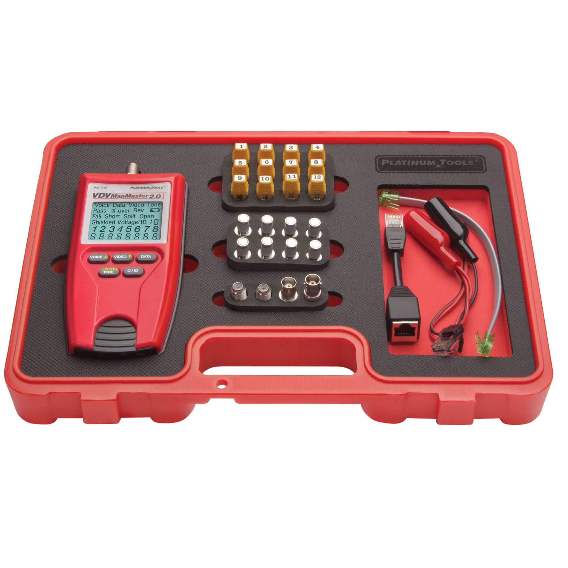Platinum Tools T129K1 VDV MapMaster 2.0 Kit Network Cable Tester and Mapper